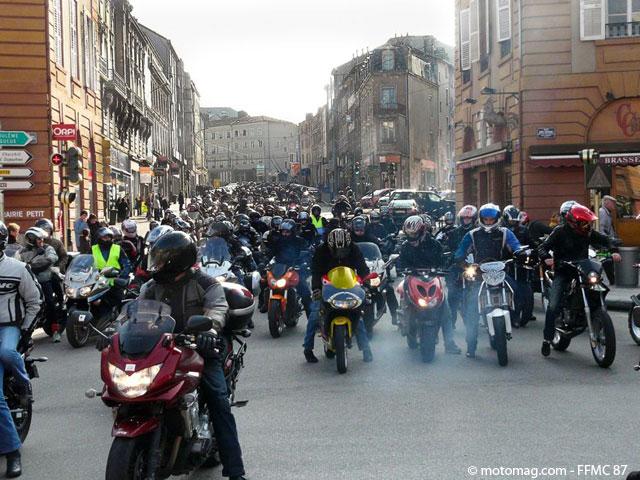 Manif moto du 13 mars limoges 87 moto magazine for Garage limoges centre ville