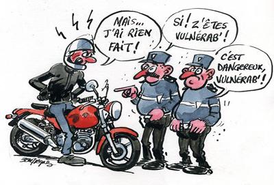 Bilan 2015 des accidents de la route les motards parmi - Dessin humour moto ...