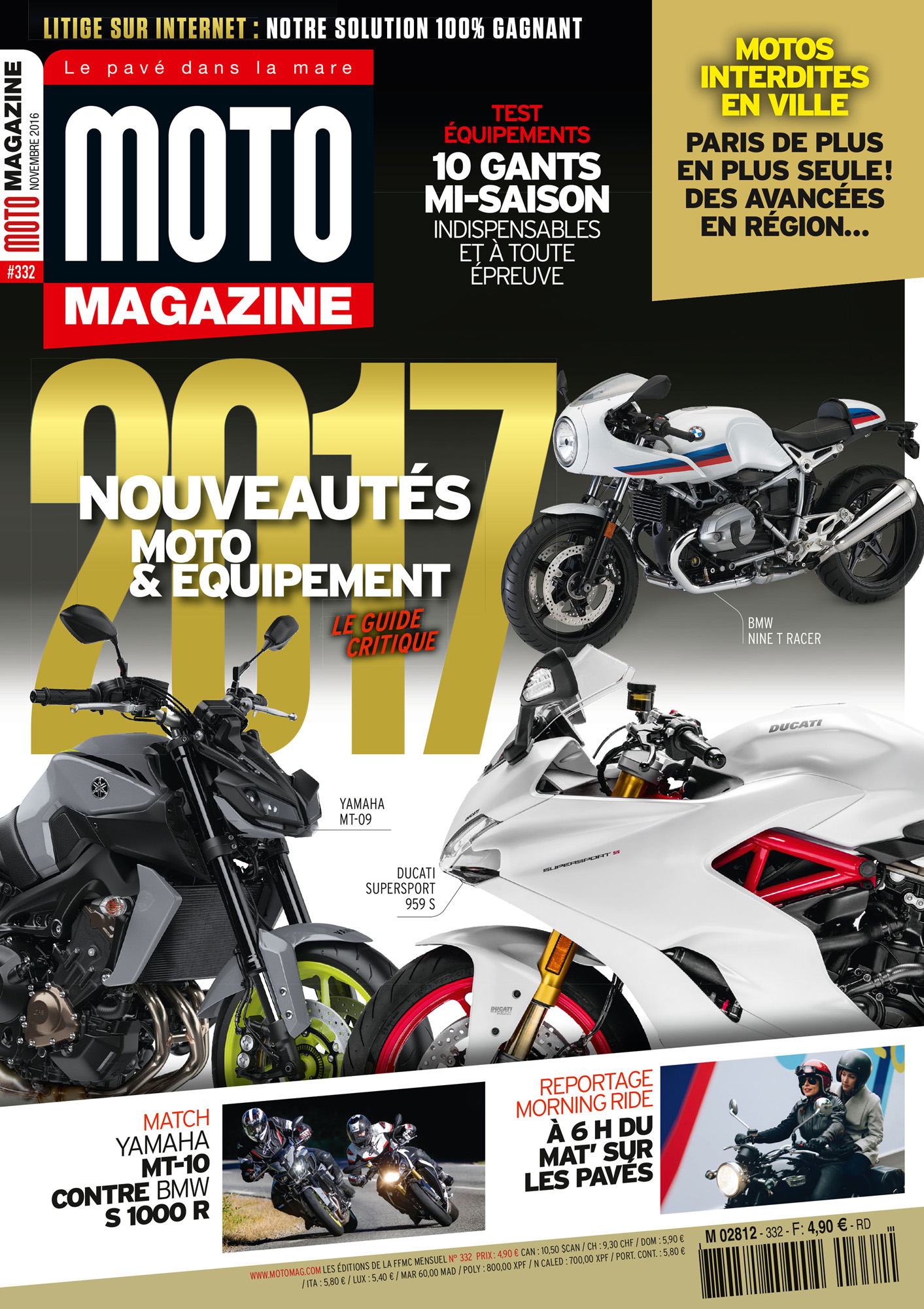 d couvrez moto magazine de novembre 2016 nouveaut s moto moto magazine leader de l. Black Bedroom Furniture Sets. Home Design Ideas