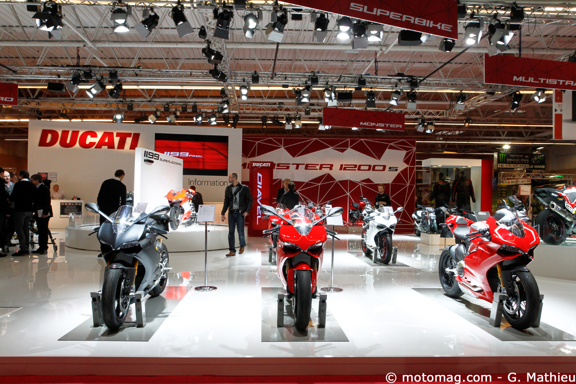 Salon de Paris 2013 : les sportives Ducati