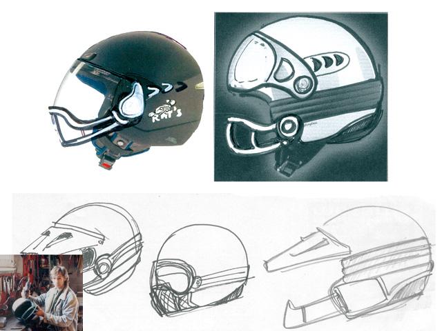 Casque moto le jet roof rat s con u et dessin par - Dessin casque moto ...