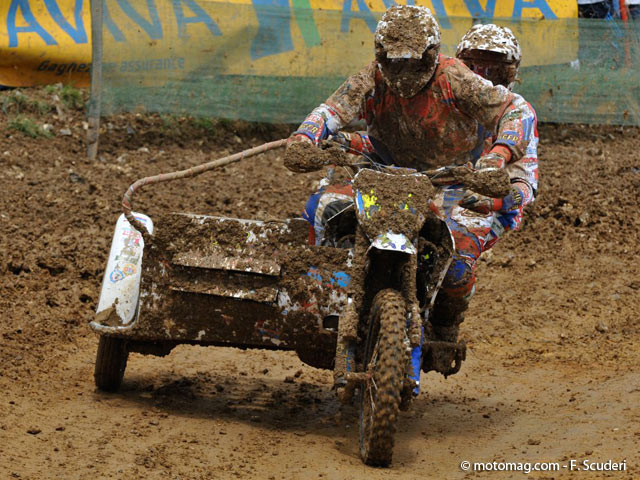 GP side-car cross : Evgueny et Haralds, à l'unisson