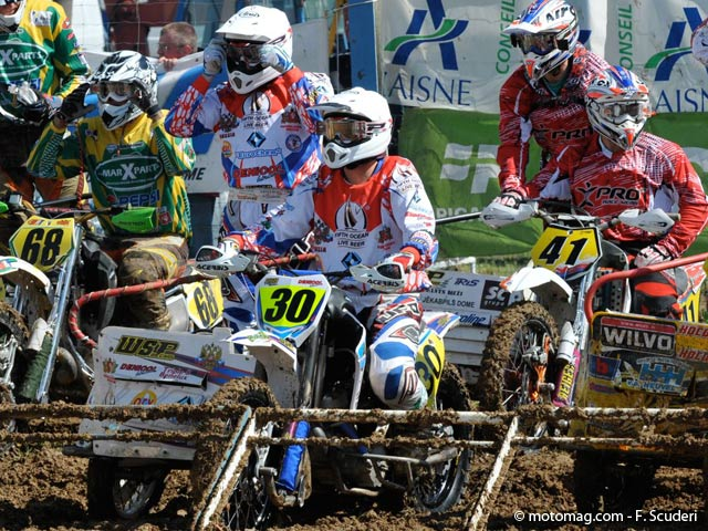 GP side-car cross : 2e manche, top départ