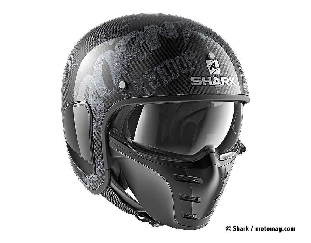 shark annonce 6 nouveaux casques pour 2018 moto magazine leader de l actualit de la moto et. Black Bedroom Furniture Sets. Home Design Ideas