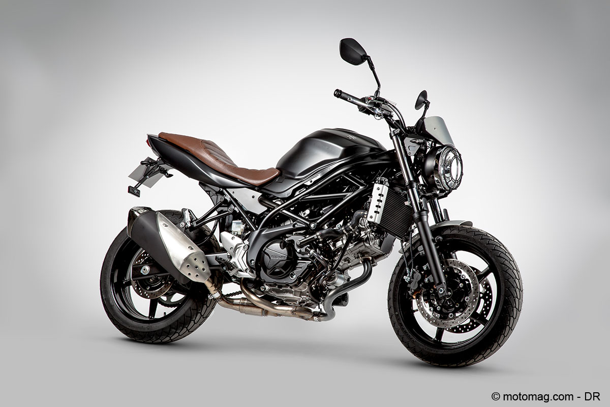 suzuki propose une s rie limit e de sa sv650 en scrambler. Black Bedroom Furniture Sets. Home Design Ideas