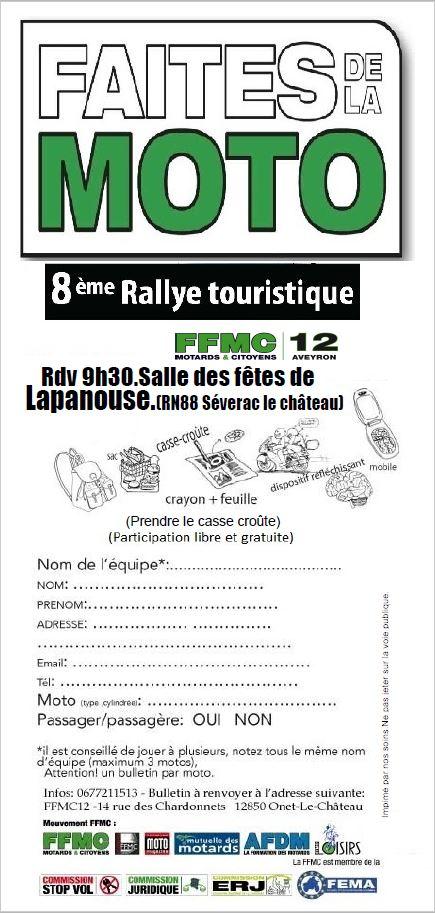 Faites de la moto de la ffmc 12 cap l 39 est moto - Inscription 12 coups de midi numero de telephone ...