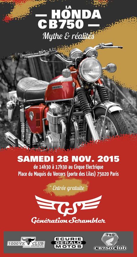 La honda cb 750 fait son cirque le 28 novembre moto magazine leader de l actualit - Le cirque electrique porte des lilas ...