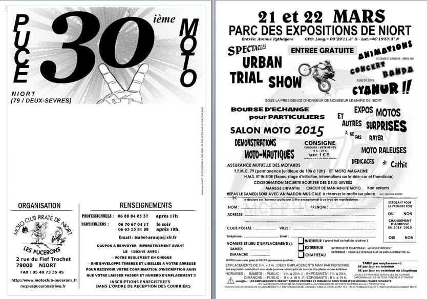 Puce moto niort 2015 for Parc des expositions niort