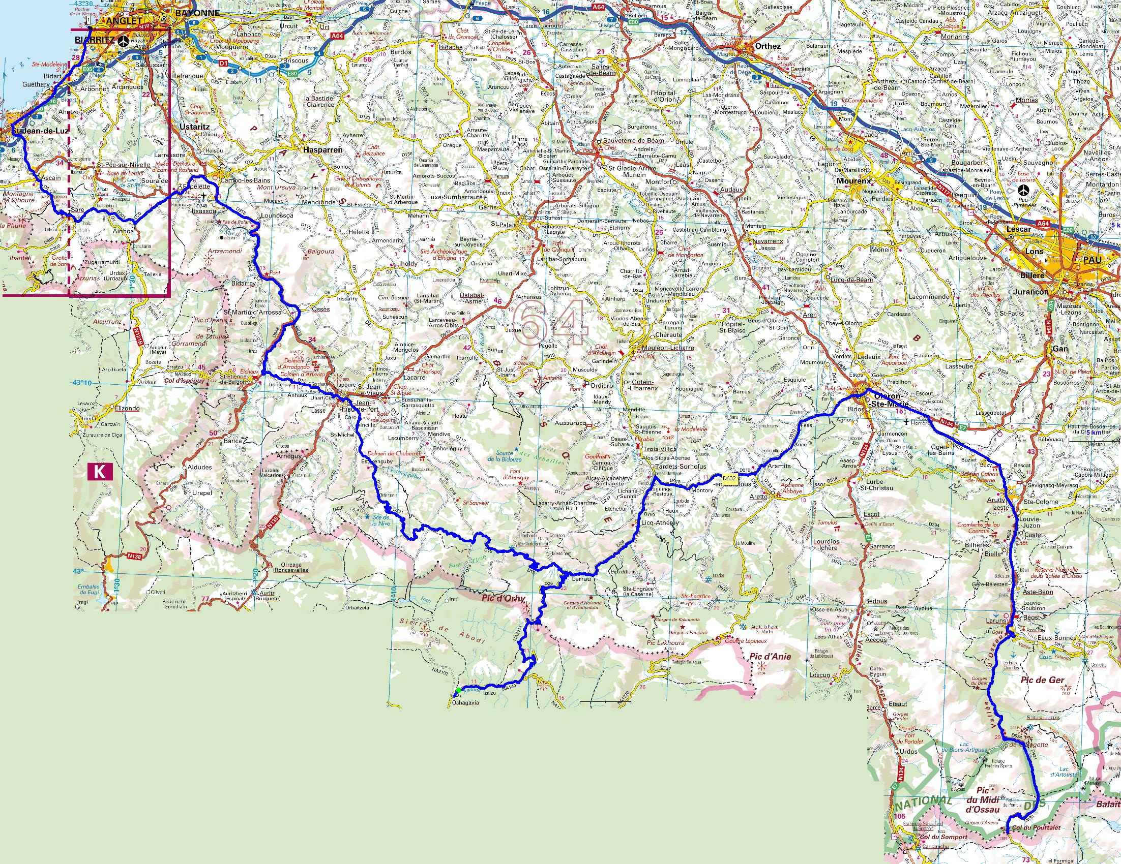 Carte Pays Basque Francais.Cartes Et Road Books Du Hors Serie Balade Moto 2009 Moto
