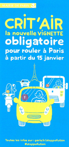 Paris: Vignette Antipollution Crit'Air