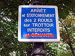 Action des motards Parisiens