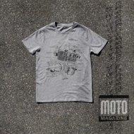 T-shirt kaki avec v/éritable logo vintage de motocyclettes Triumph