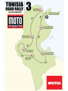 Rallye Moto Magazine Tunisia Road Rally : le parcours