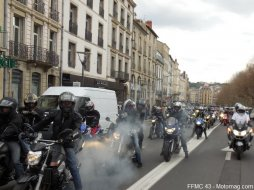 Manifestation FFMC 43 : 260 motos au Puy-en-Velay