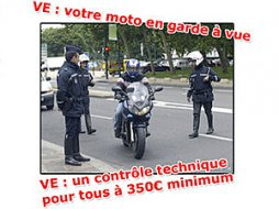 Les automobilistes face à la procédure VE… les motards (...)