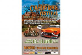 10e Country rock festival bikes & US cars show (...)