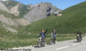 Le Galibier en mobylette ou la Mythique Ascension