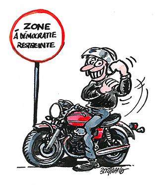 Dessin De Motard mobilisation ffmc : deux manifestations les 26 et 27 () - moto