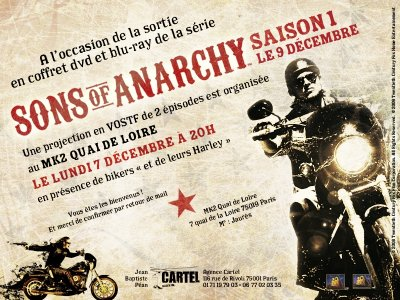 DVD Sons Of Anarchy : projeté au cinéma