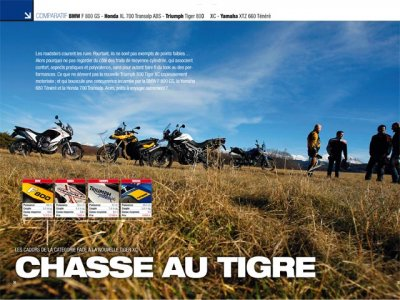 Moto Magazine 275 (mars 2011) : comparatif trails