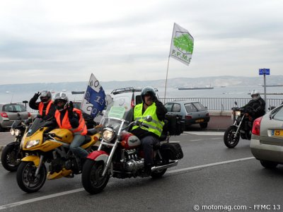 Manif moto Marseille (13) : place Paul Ricard