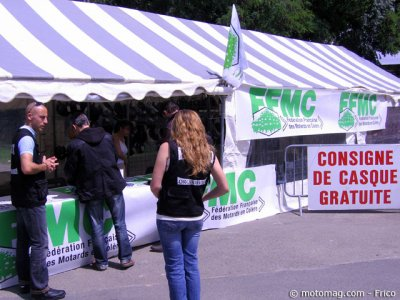 1er Iron Bikers : les services de la FFMC