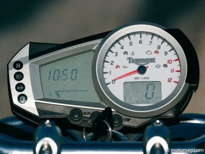 Triumph 1050 Speed Triple : tableau de bord