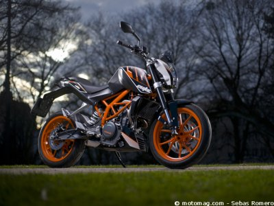 Essai KTM Duke 390 : partie-cycle commune