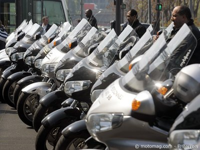 Manif moto-taxis : Honda en force