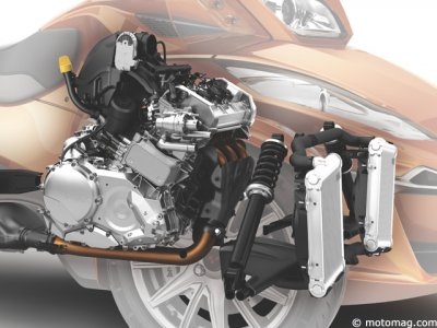 Can-Am Spyder RT Sport : 3-cylindres liquide