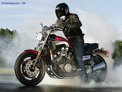 Yamaha 1200 Vmax : burn ou out !