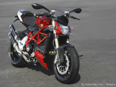 Test Ducati Streetfigther 848 : option carbone
