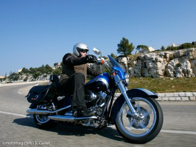 HD Softail Convertible CVO : on the road !