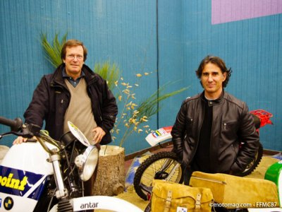 Salon FFMC de Limoges : Hubert Auriol et Cyril Neveu