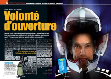 Moto mag octobre 2009 : casques modulables