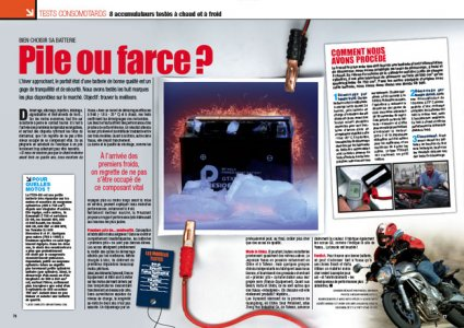 Moto Magazine octobre 2009 - les batteries