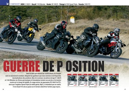 Comparatif gros roadsters