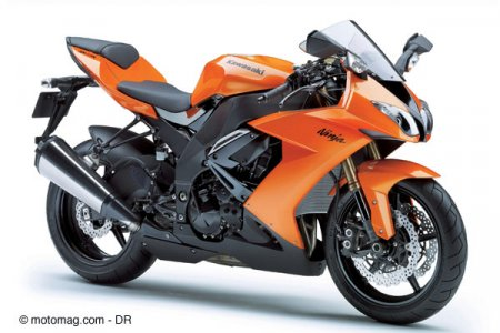 Kawa ZX 10-R 2008 : orange mécanique