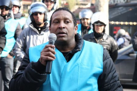 Manif moto-taxis : Daniel Charlery, syndicaliste