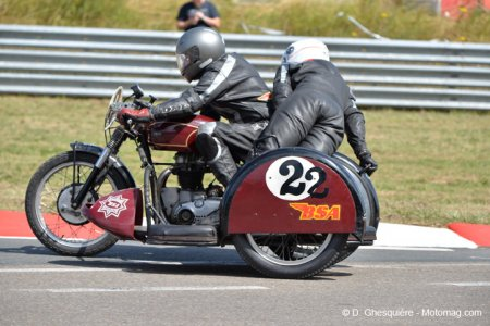 Classic Bikes à Chimay : side-car BSA 1950