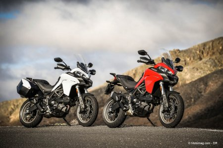 Ducati 950 Multistrada : coloris blanc ou rouge