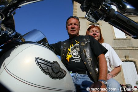 Robert et Marie-Claire Bellardy en Road King du 34