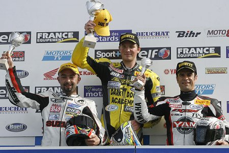 SBK au Vigeant : Denis, podium surprise