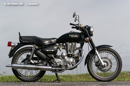 Enfield 500 Electra : finition