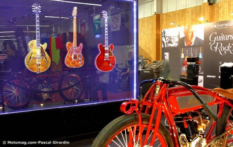Salon de la moto de Paris 2015 : guitares et Indian board track