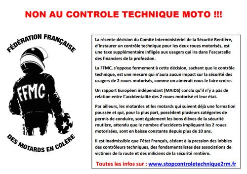 La FFMC 47 appelleà manifester contre le contr u00f4le technique ( ) Moto Magazine leader de l  # Controle Technique La Ville Du Bois