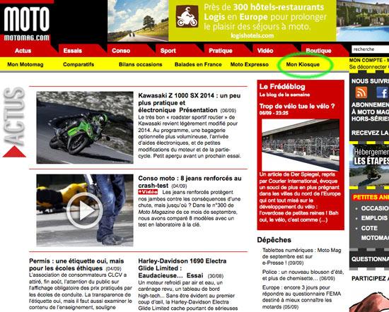 tablettes num riques moto magazine de septembre est sur moto magazine leader de l. Black Bedroom Furniture Sets. Home Design Ideas