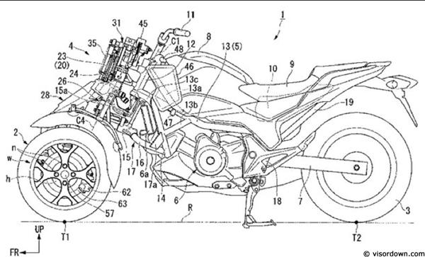 un nouveau trois-roues chez honda   - moto magazine