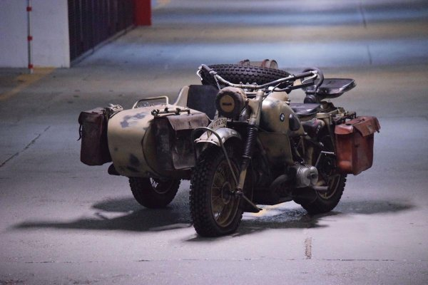 bmw r75 side car moto collection guerre