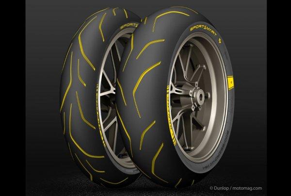 pneus moto dunlop revient l 39 hypersport avec les moto magazine leader de l. Black Bedroom Furniture Sets. Home Design Ideas